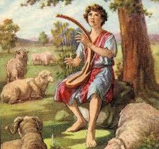 Dawid gra na harfie